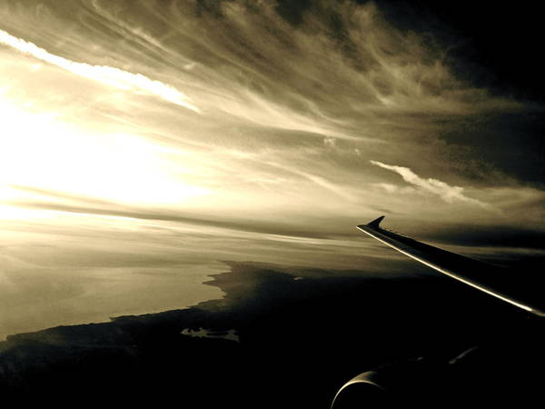 Below Photograph - From The Plane by Gwyn Newcombe