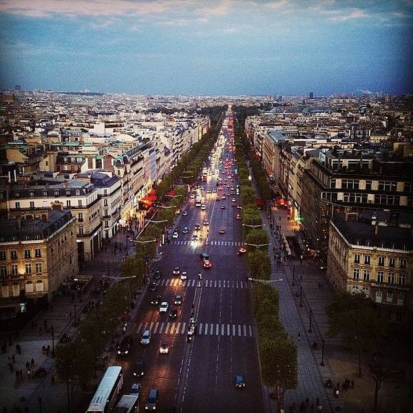 France Wall Art - Photograph - From The Top Of The Arc De Triomphe by Heidi Hermes