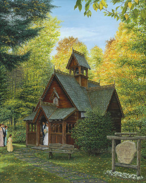 Chapels Painting - From This Day Forward by Doug Kreuger