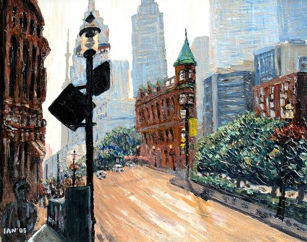 Toronto Painting - Front And Church by Ian  MacDonald