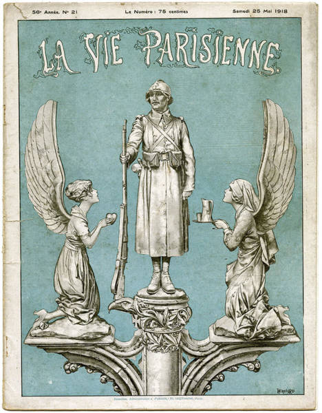 Angle Drawing - Front Cover Of 'la Vie Parisienne' by Mary Evans Picture Library