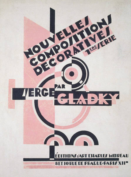 Title Page Wall Art - Painting - Front Cover Of Nouvelles Compositions Decoratives by Serge Gladky