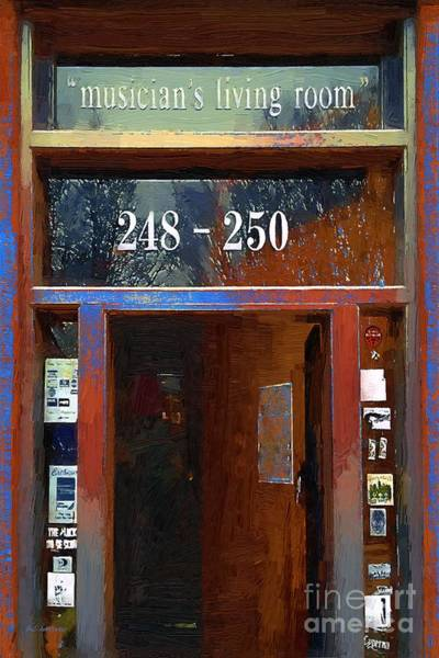 Painting - Front Door At The Cafe Nine by RC DeWinter