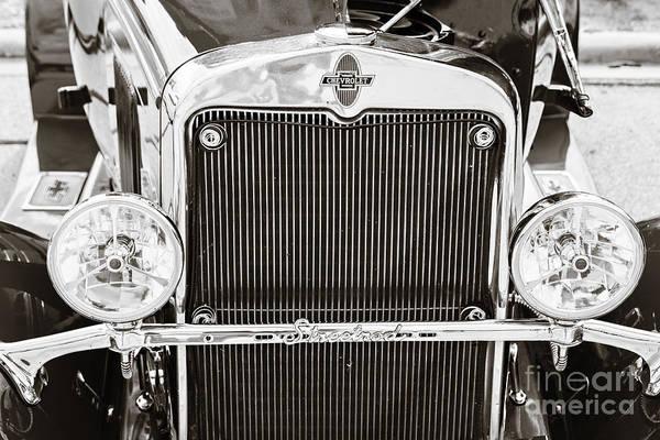 Photograph - Front End 1929 Chevrolet Classic Car Automobile Sepia 3131.01 by M K Miller