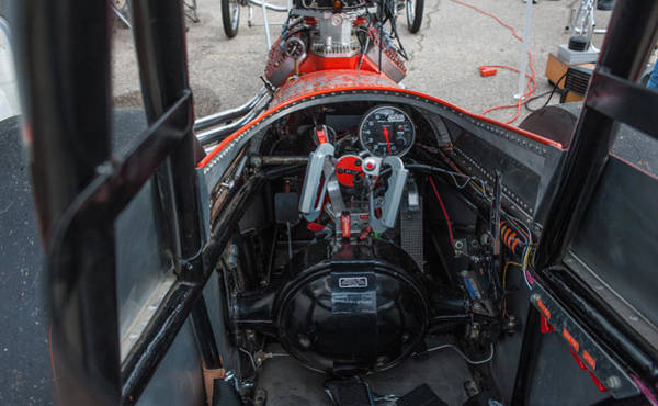 Photograph - Front Engine Dragster Cockpit by Todd Aaron