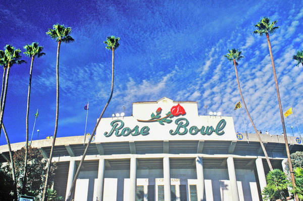 Rose Bowl Photograph - Front Entrance To The Rose Bowl by Panoramic Images