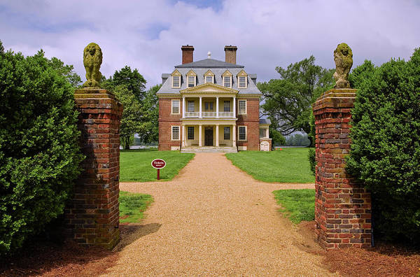 Charles Mansion Photograph - Front Gates Of Shirley Plantation by Panoramic Images