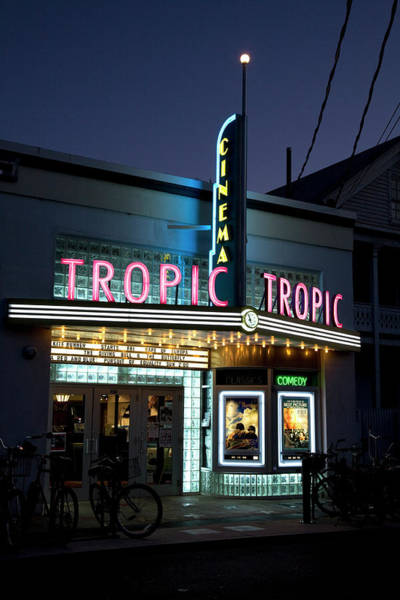Photograph - Front Of Tropic Cinema House At Dusk by Charles Cook