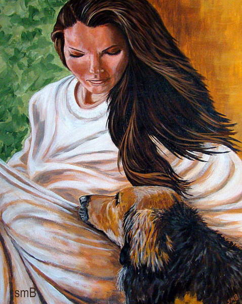 Bergstrom Painting - Front Porch Paws by Susan Bergstrom