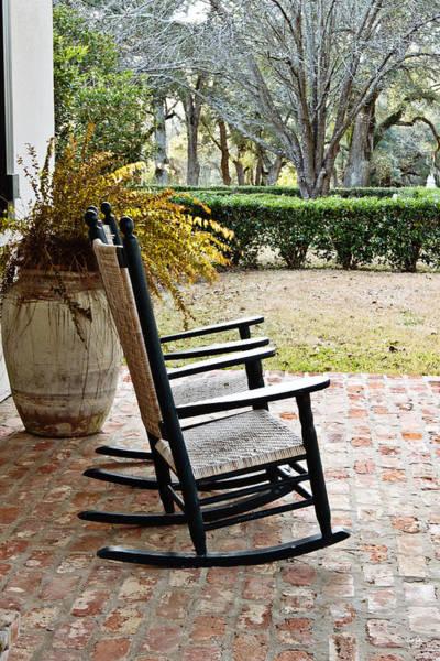 Wicker Chair Photograph - Front Porch Rockers by Scott Pellegrin