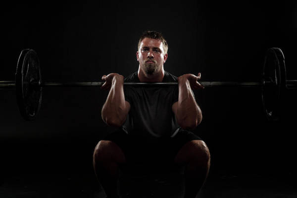 Sports Training Photograph - Front Squat by Steele2123