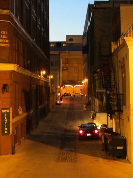 Photograph - Front Street Alley Night by Anita Burgermeister