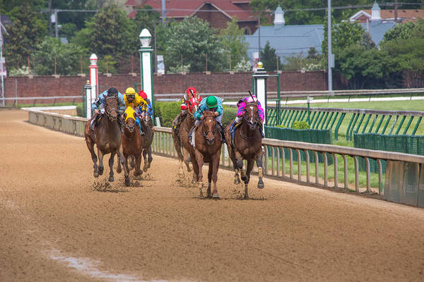 Jocky Photograph - Front Stretch by James Guest