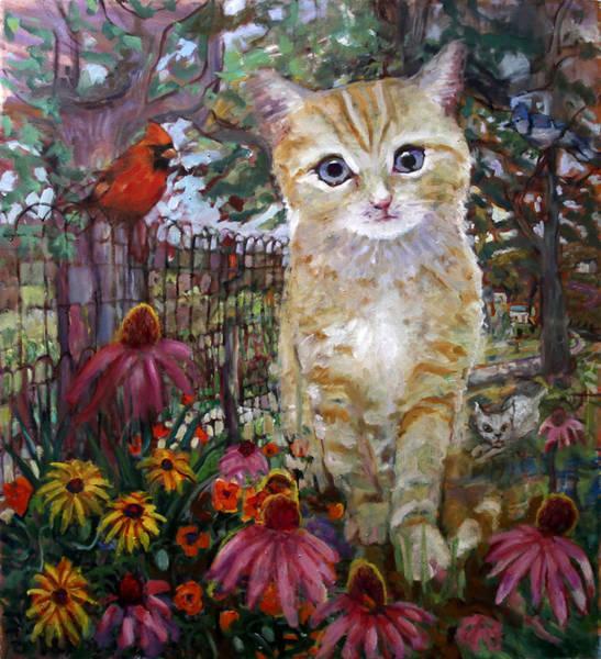 Front Yard Kitty Art Print