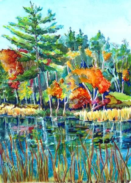 Bullrush Painting - Frontenac Park by Saga Sabin