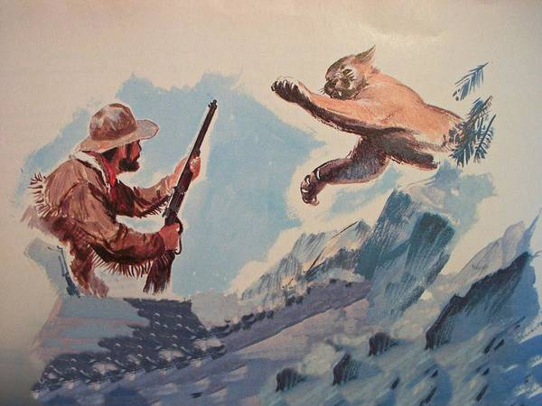 Mountain Lion Digital Art - Frontier Pioneer Mountain Lion by Movie Poster Prints