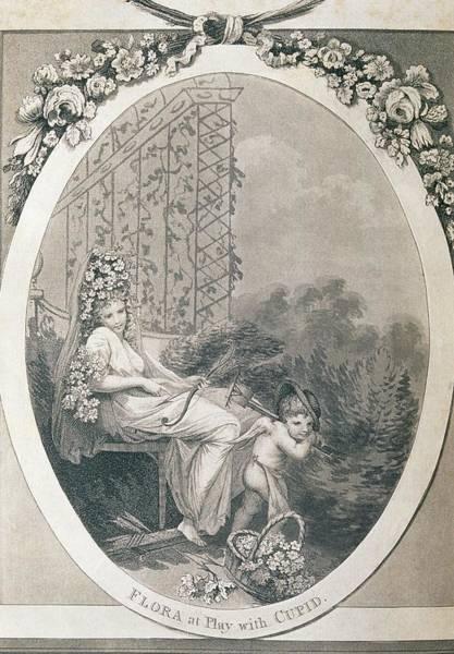 Goddess Of Love Wall Art - Photograph - Frontispiece Of Erasmus Darwin's Botanic Garden by George Bernard/science Photo Library