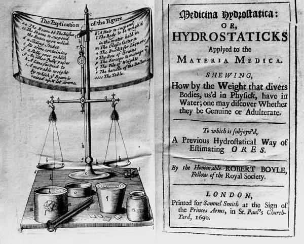 Front Page Photograph - Frontispiece Of Hydrostaticks By R. Boyle by Science Photo Library