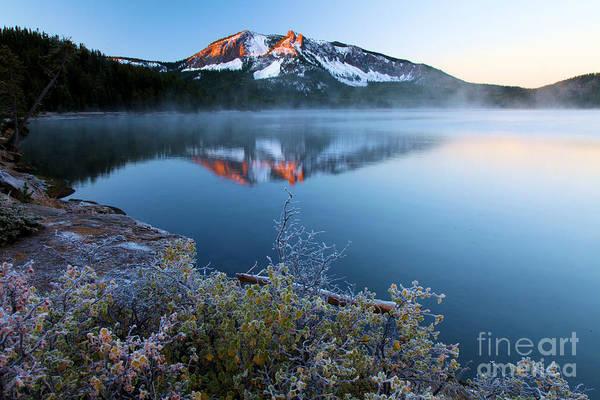 Photograph - Frost At Paulina Lake by Adam Jewell