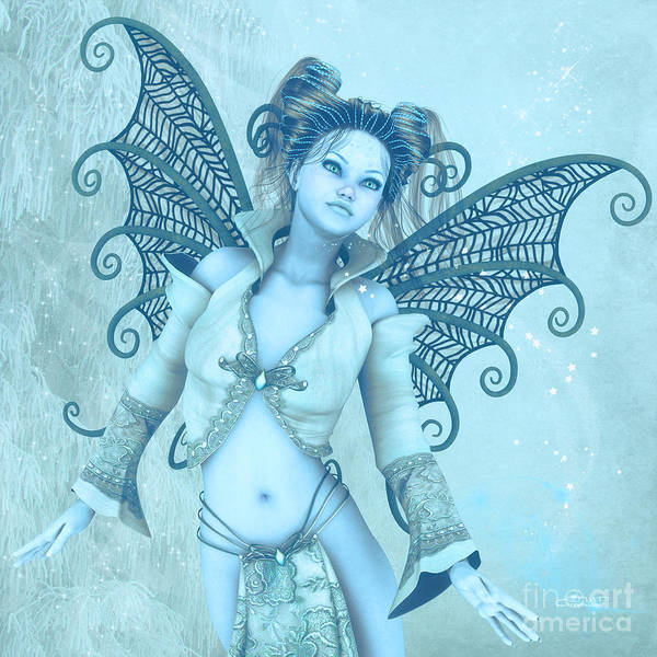 Digital Art - Frost Fairy by Jutta Maria Pusl