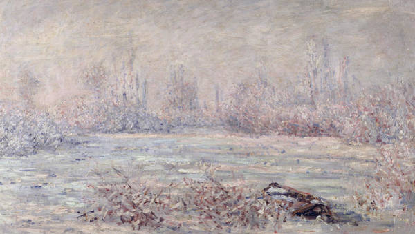 Vetheuil Wall Art - Painting - Frost Near Vetheuil by Claude Monet