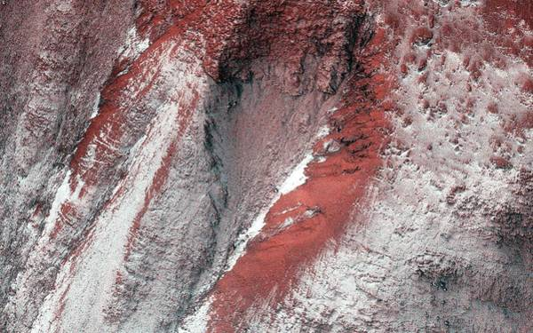 Gully Photograph - Frost On Mars by Nasa/jpl-caltech/univ. Of Arizona