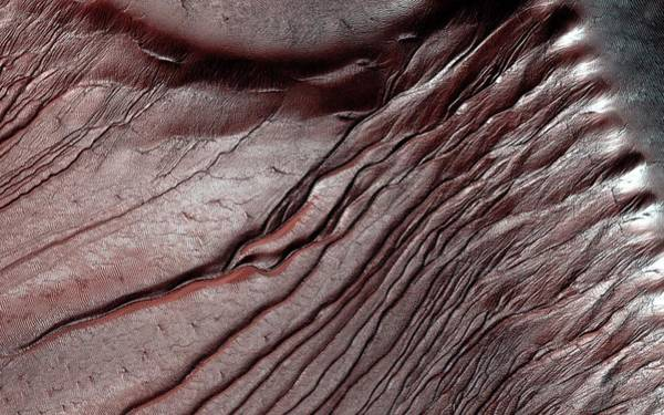 Deposits Wall Art - Photograph - Frost On Martian Dunes by Nasa/jpl-caltech/univ. Of Arizona