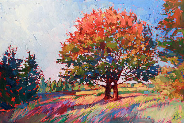 Country Style Painting - Frosted Oak by Erin Hanson