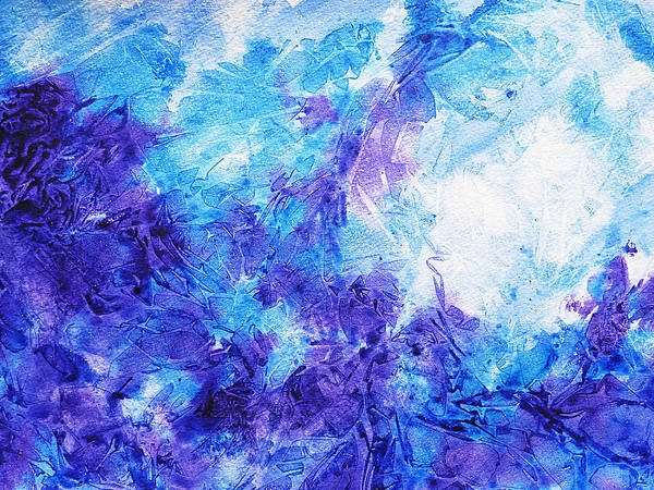 Abstractionism Painting - Frosted Window Abstract Iv by Irina Sztukowski