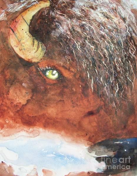 Painting - Frosty Bison Breath by Carol Losinski Naylor