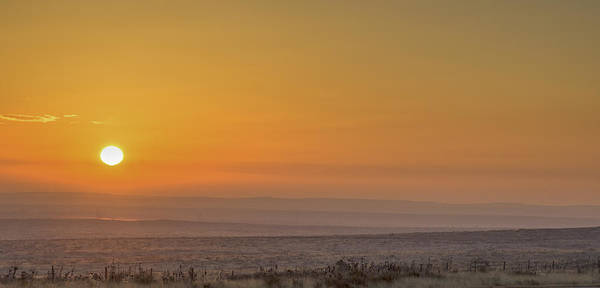 Photograph - Frosty Ground And Sunset by David Waldrop