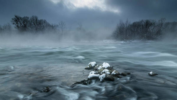 Current Wall Art - Photograph - Frosty Morning At The River by Tom Meier