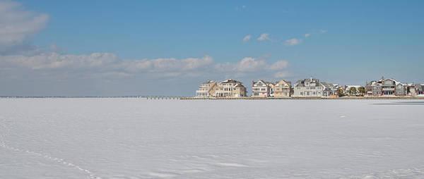 Photograph - Frozen Barnegat Bay From Seaside Park Nj by Beth Sawickie