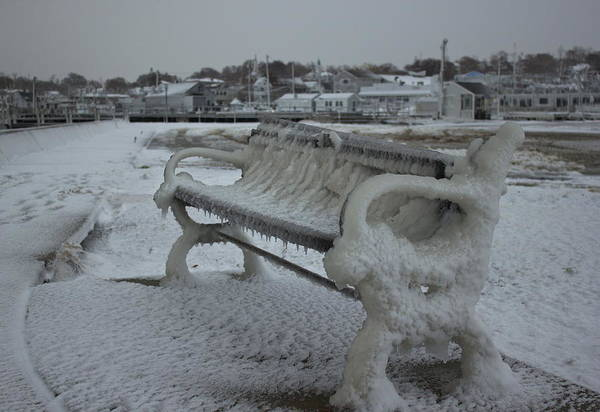 Photograph - Frozen Bench by Amazing Jules