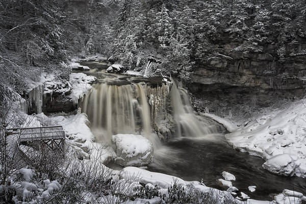 West Virginia Photograph - Frozen Blackwater by Robert Fawcett
