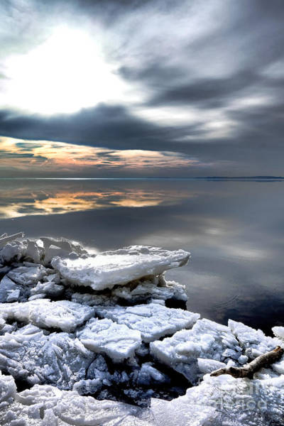 Photograph - Frozen Chesapeake by Olivier Le Queinec