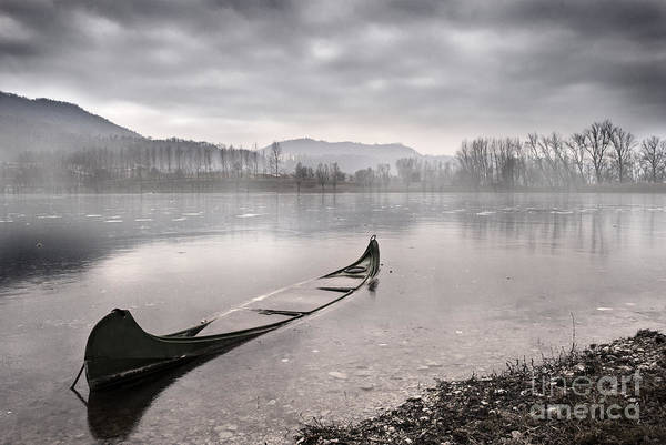 Boats Wall Art - Photograph - Frozen Day by Yuri San