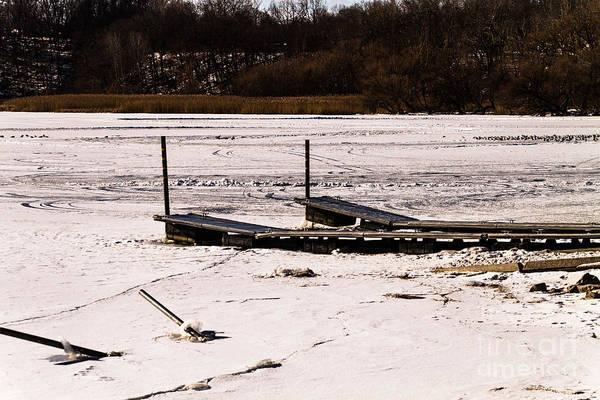 Photograph - Frozen Dock by William Norton