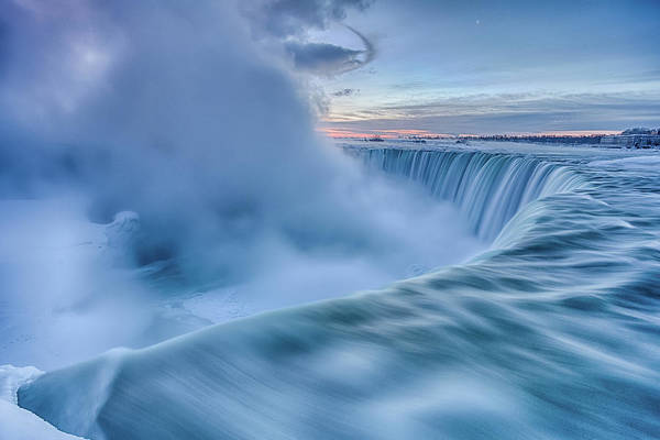 Water Fall Photograph - Frozen Fury by Adam Filipowicz