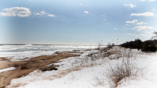 Photograph - Frozen Huron Shore 1 by Scott Hovind