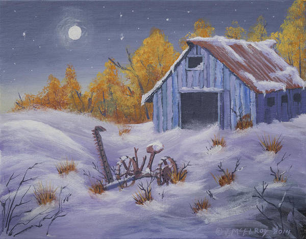 Barn Snow Painting - Frozen In Time by Jerry McElroy