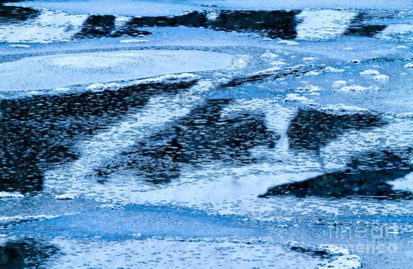 Photograph - Frozen Lake Abstract by Stuart Gordon