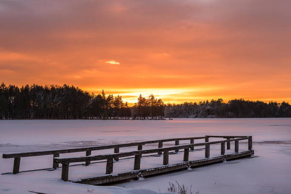 Lakehurst Photograph - Frozen Lake Lakehurst New Jersey by Terry DeLuco