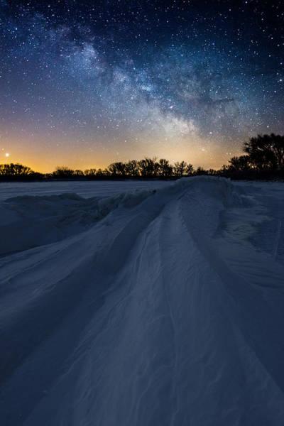 Wall Art - Photograph - Frozen Lake Minnewaska Milky Way by Aaron J Groen