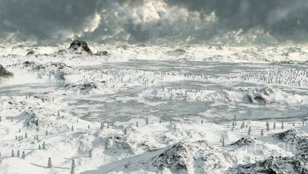 Fairy Pools Digital Art - Frozen Lakes by Fairy Fantasies
