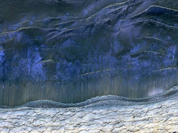 Northern Arizona Wall Art - Photograph - Frozen Mars by Nasa/jpl-caltech/u.arizona/science Photo Library