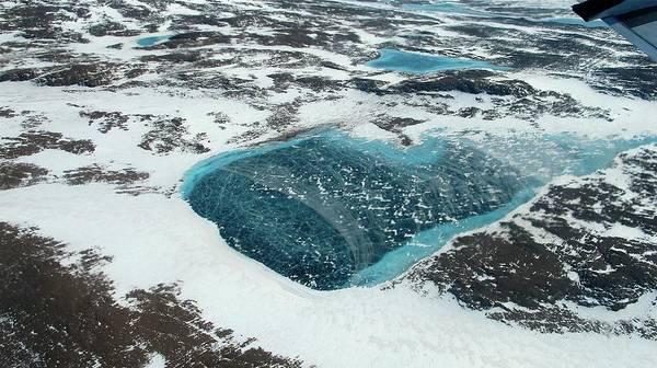 Lakes Region Photograph - Frozen Meltwater Lake by Nasa/jim Yungel
