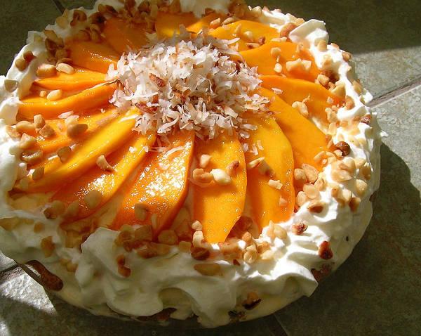 James Temple Photograph - Frozen Molokai Mango Mele Pie by James Temple