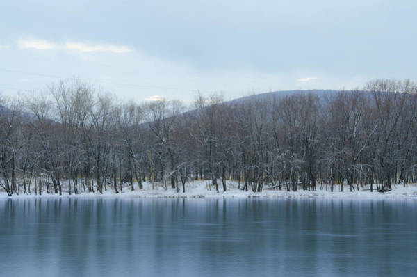 Poconos Wall Art - Photograph - Frozen Mountain Lake by Bill Cannon