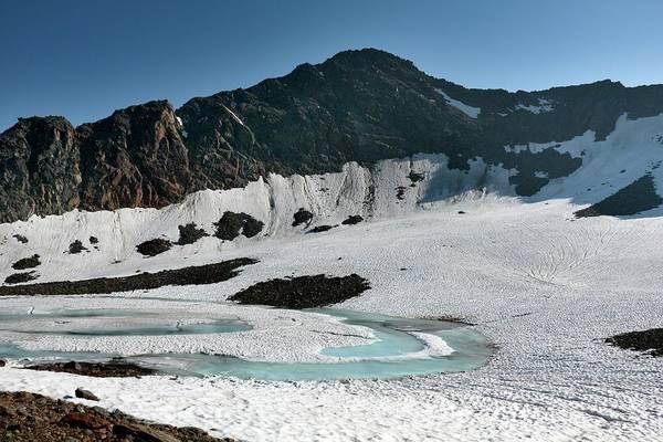 Frozen Mountain Lake Art Print